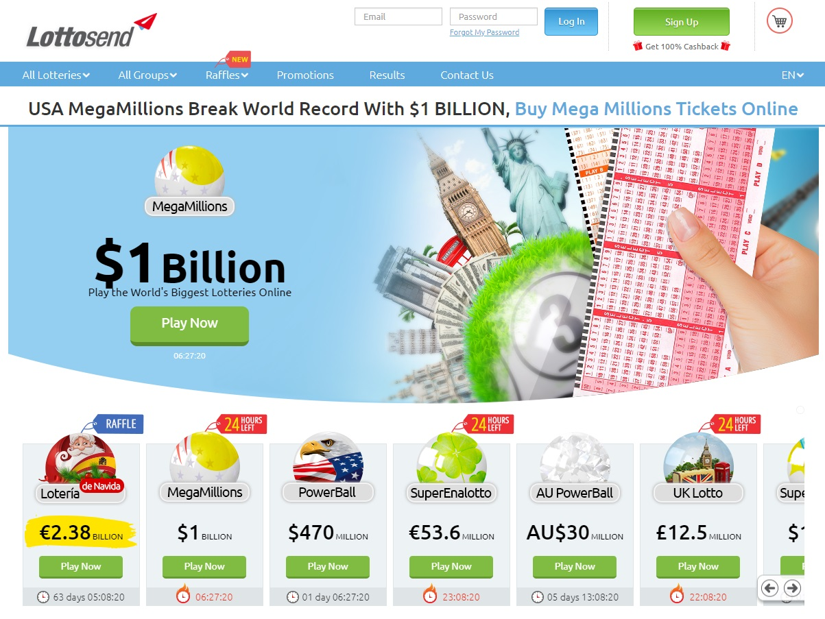 Lottosend - play lottery games online