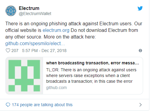 Cryptocurrency Hacks: Hackers Have Stolen Over 250 BTC from Electrum