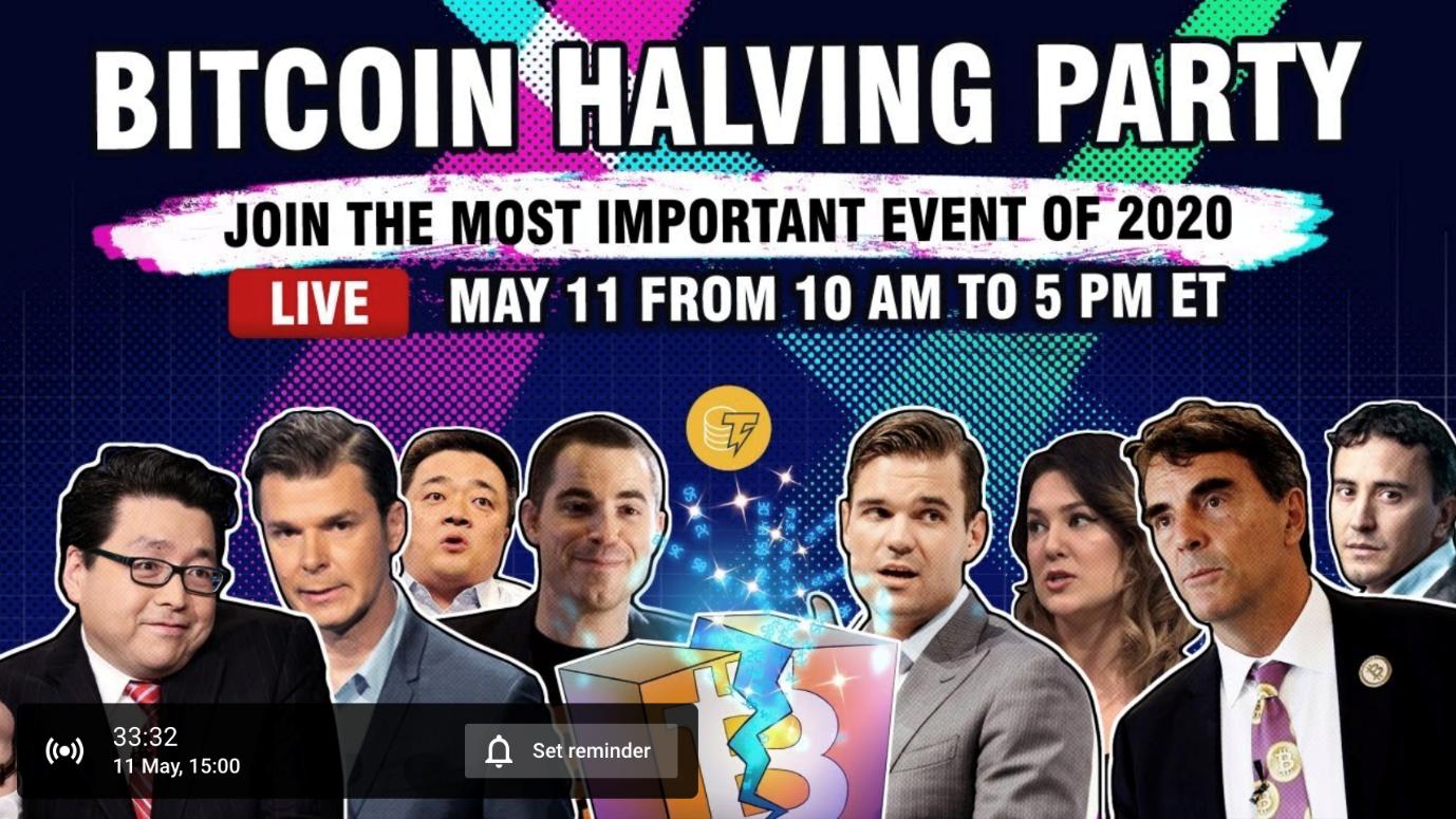 Bitcoin Halving Party