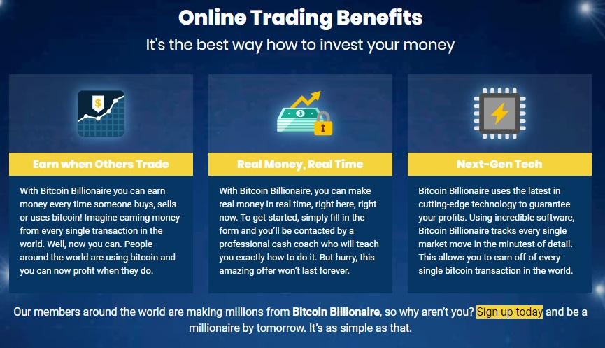Bitcoin Billionaire benefits