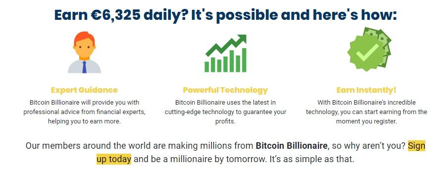Bitcoin Billionaire sign up
