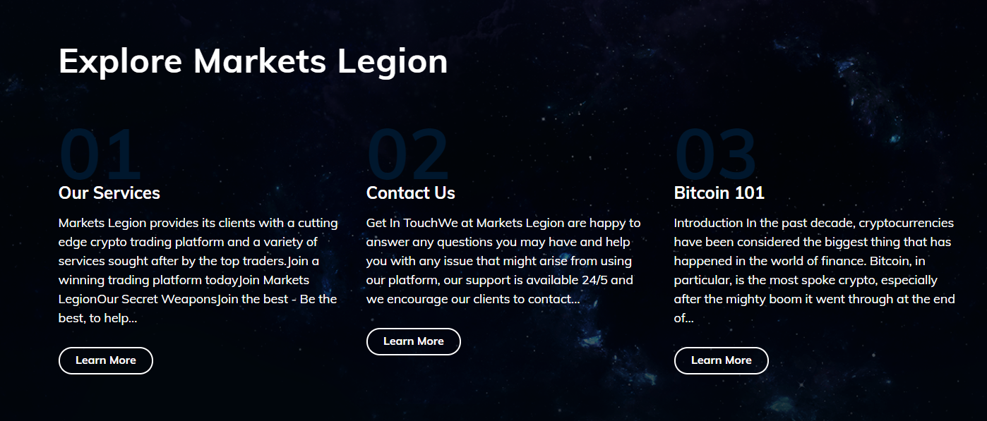 explore Markets Legion