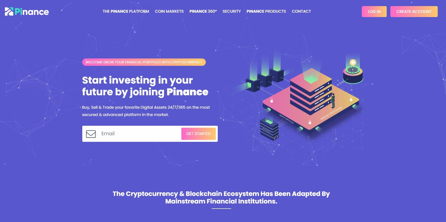 Pinance crypto exchange