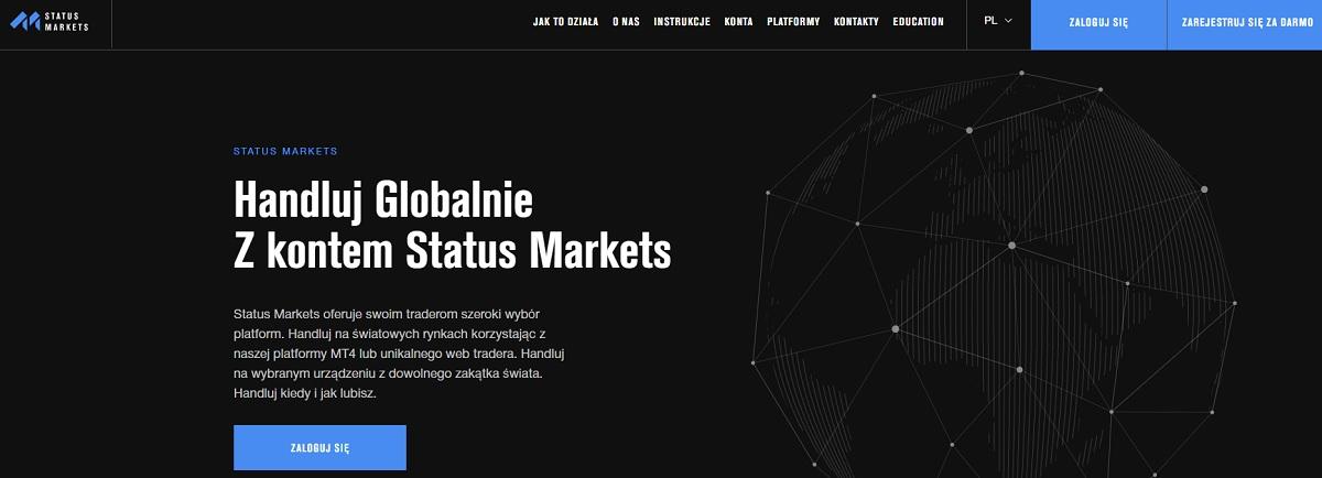 Status Markets strona główna