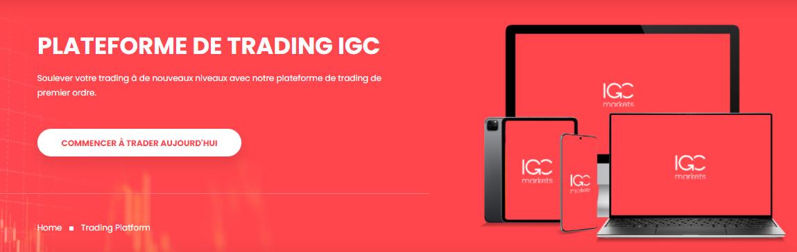 PLATEFORME DE TRADING IGC