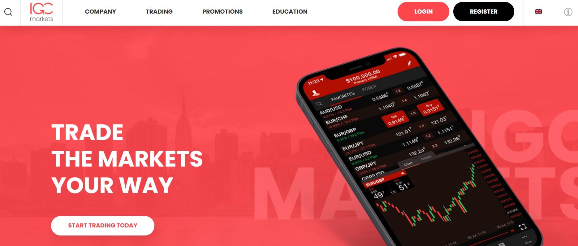 IGC Markets website